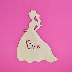 Personalised Kids' Princess Bedroom Door Sign or Art