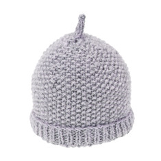 Buddy hand knitted pure wool moss stitch pull on hat