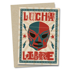 Lucha libre greetings card
