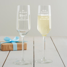 Personalised 'Will You Be My Usher?' Champagne Flute