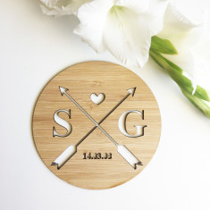 Arrows Personalised Initials and Wedding Plaque