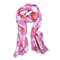 Ann scarf in salmon
