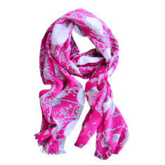 Moon scarf in magenta