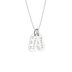 Lulu personalised sterling silver pendant