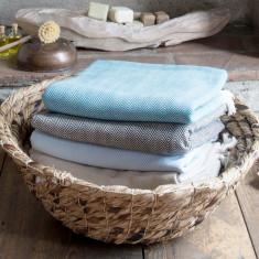 Cotton herringbone blanket (various colours)