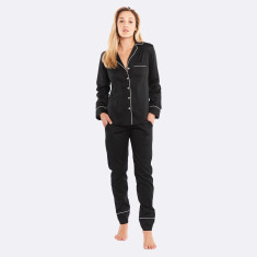 Monogram PJ Set in black and ivory