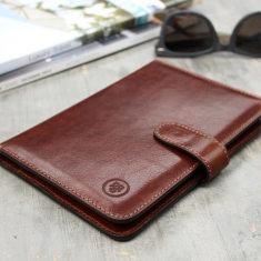 Vieste italian leather travel document wallet