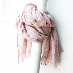 Lucy metallic bird scarf