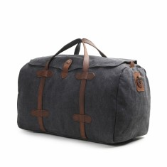 Canvas weekend duffle bag in grey