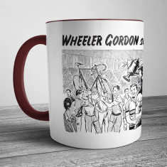 Retro Illustration Mug Wheeler Gordon Sets the Pace