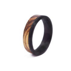 Natural Wooden Zebra Ring
