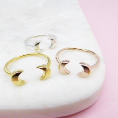 Double moon ring (Various Colours)