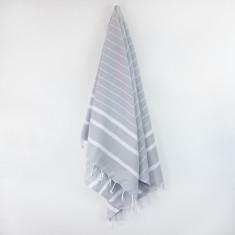 Bondi Turkish Towel in Classic Grey