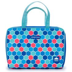 Hexagon design hanging toiletry bag