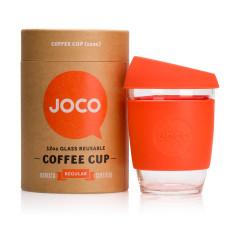 Orange reusable glass cup (12oz)