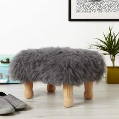 Personalised Baa Sheepskin Footstool