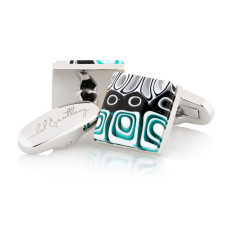 Mosaico Murano glass cufflinks