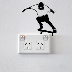 Skateboarder for power points and light switches