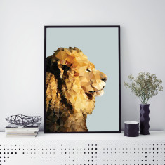 Geometric Lion art print