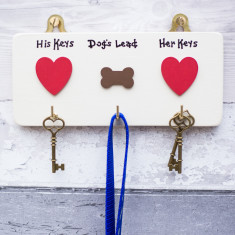 Personalised House Keys and Dog Lead Hooks