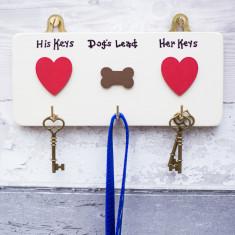 Personalised House Keys and Dog Lead Hooks
