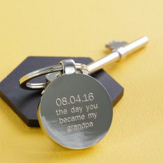 Personalised Day You Became My Grandpa Key Ring
