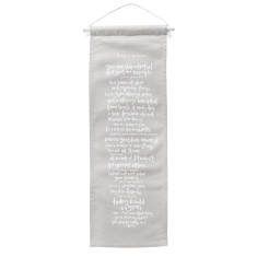 Things to remember linen mini wall banner