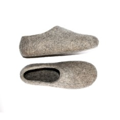 Natural Christmas Men's Wool slippers ECO
