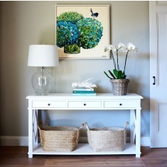 White Hamptons console