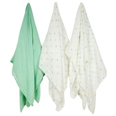 Weegoamigo bamboo muslin swaddle in One Direction (3 pack)