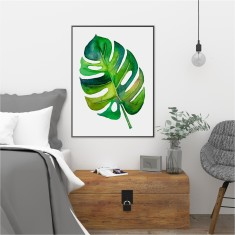 Watercolour Monstera Leaf Print