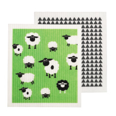 Swedish dish cloth/sponge - Sheep/Monochrome (Set of 2)