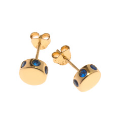 Isabelle stud earrings in yellow gold