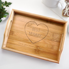 Personalised Wooden Best Mum Mini Tray
