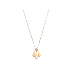 Droplets pendant necklace (gold and silver)