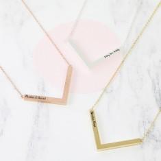 Personalised Chevron Pendant Necklace