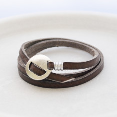 Men's leather wrist wrap