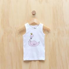 Personalised swan singlet