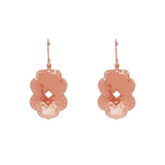 Beleza Medium Drop Earring in Rose Gold Plate