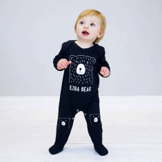 Personalised Scandi Bear Baby onesie