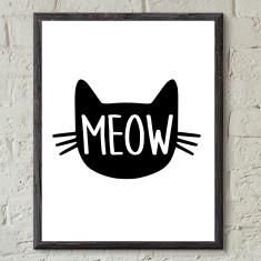 Cat meow print