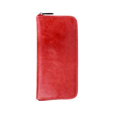 Lyon zip wallet in cherry
