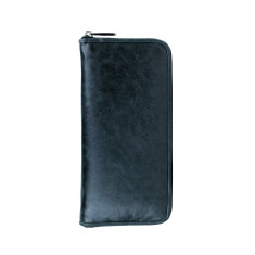 Lyon zip wallet in licorice
