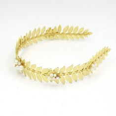 Golden leaves headband