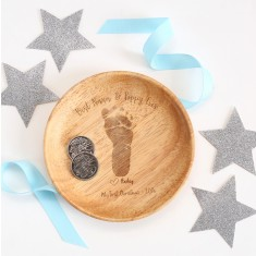 Personalised First Christmas (with hand or foot print) Coin Tray