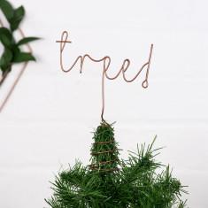 Christmas tree! word tree topper