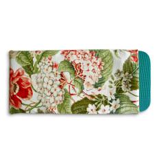 Gardener's kneeling pad in coral blooms