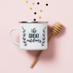Personalised The Great Outdoors Enamel Mug