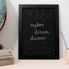 Explore art print black