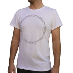 Men's circle white organic cotton t-shirt
